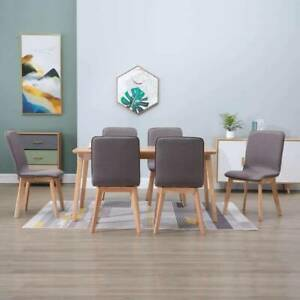 Dining Chairs 6 pcs Taupe Fabric KYG-276930