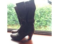 Brown Wallis boots - size 6 - double buckle