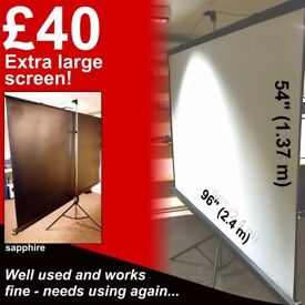 Extra Large Tripod Movie Projector Screen - 8 ft x 4.5 ft!