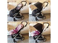 Mamas & Papas sola travel system with plum seat and denim seat