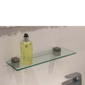 Designer glass Shelf Kit. For living room or bathroom
