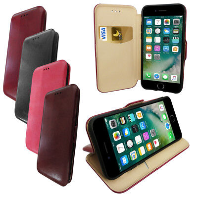 Protective Wallet Phone Case with Media Stand & Card Slot with Magnetic Clasp Media Wallet Case