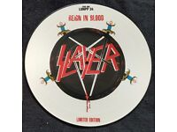 SLAYER REIGN IN BLOOD LIMITED EDITION PICTURE DISC VINYL LP RARE