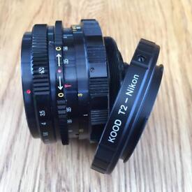 INA vintage wide angle lens comes with Nikon T2 lens mount