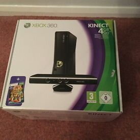 Xbox Black Console and Kinect in Original Packaging with extra Controller