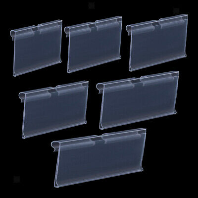 50-pack Transparent Pvc Shelf Retail Price Tag Label Display Holder Durable