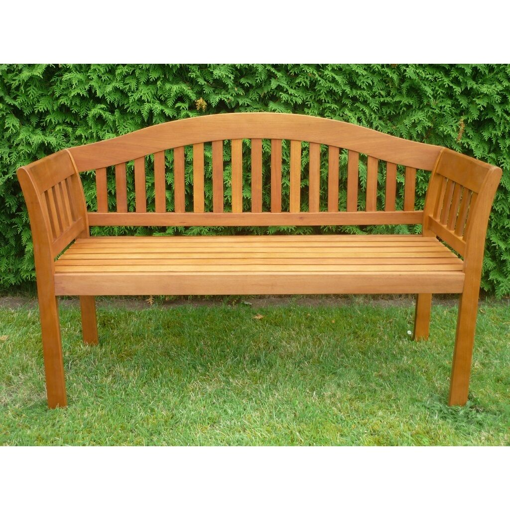 Kano24  Holz Gartenbank 2-sitzig Sitzbank  Kir Royal  Parkbank Eukalyptus Teak