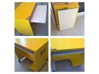 Yellow computer desk