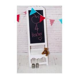 John Lewis White French Shabby Chic Girls Boutique ship folding 5ft chalk board
