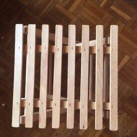IKEA 'HALLFRED' FOLDABLE BEECH HOME/GARDEN/PICNIC TABLE/STOOL & 'STAFFLI' TABLE EASEL