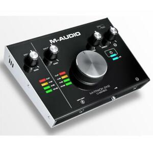 M-Audio M-Track 2X2 USB Audio Interface 2-IN /2-OUT 24/192 podcast studio recording to PC and Mac