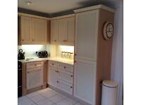 Kitchen units cream/beige
