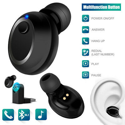 Mini Bluetooth Kopfhörer In Ear Wireless Kabellos Sport Stereo Headset Ohrhörer  Mini Bluetooth Wireless Headset