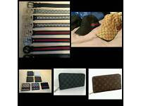 Massive Wholesale Joblot Designer Belts Hats Wallets Scarves Caps Sunglasses