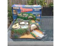 THUNDERBIRDS TRACY ISLAND original/retro model with original Matchbox box VGC only £20