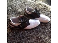 Nike Golf Shoes, Size 8.5UK, White&Black, Excellent Condition, Worn Twice.