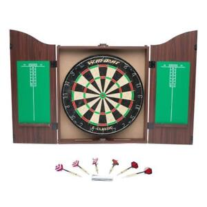 "World Master 18"" Bristle Dartboard and Cabinet Set"