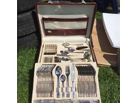 Solengen cutlery set 24ct plated with warrantee certificate