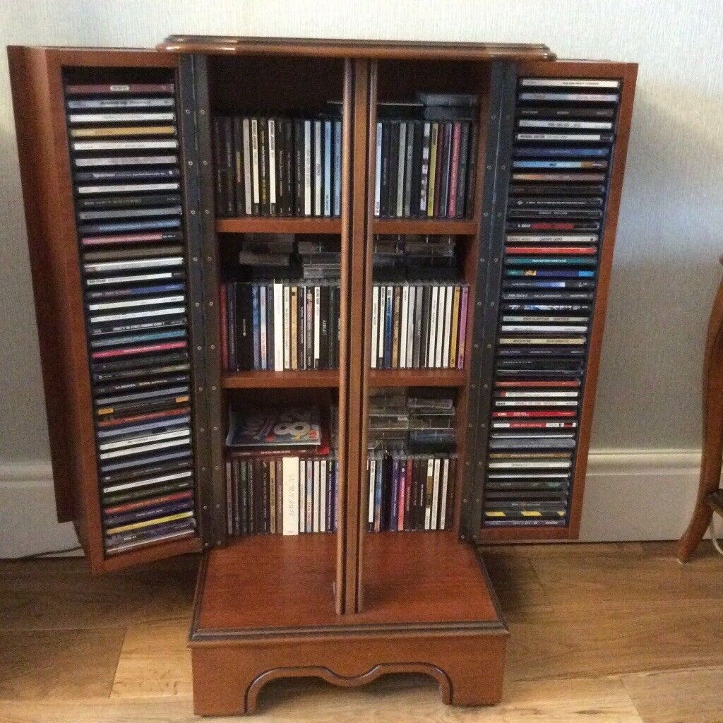 Cd Dvd Cabinet In Cherry Wood