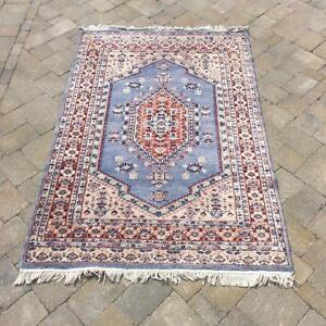 """Brown And Blue Hand-Knotted Tabriz Rug """"Mary"""" (4' X 6')"""