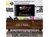KING I P T V - TOP QUALITY SERVICE - 50 A YR - READ ADD