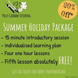 Maths and English Tutoring Summer Package - Pay for 4 sessions and get 5th FREE!