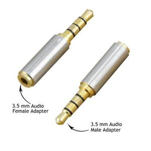 Rancco 3.5mm Male to 3.5mm Female Audio Headphone Jack Extender Adapter, Aux Stereo 3 Ring Gold Plated, Audio Adapter Co