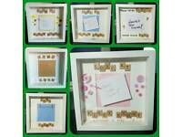 Handmade Personalised Box Frames For New Baby!