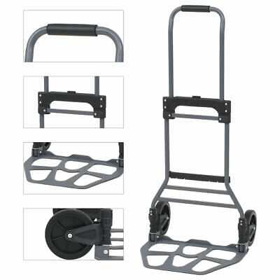 vidaXL Folding Hand Truck Aluminium 130kg Transport Storage Dolly Trolley Cart