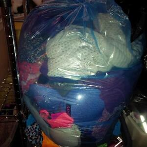 Huge blue recycle bag of clothes size xs-medium