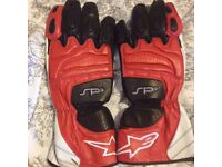 alpinestars gloves xl excellent condition