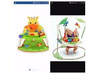Fisher Price Jumperoo/Giraffe sit me up feeding booster/Baby Bath Seat