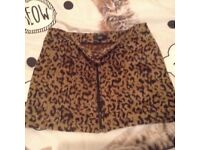NEXT Leopard part wool Skirt size 14 and top