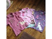 3 Girl's joules polos age 7-8