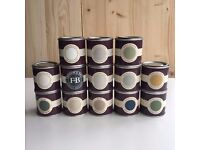 Set of x13 Farrow and Ball Paint Sample Pots