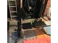 Heavy duty weight bench incline