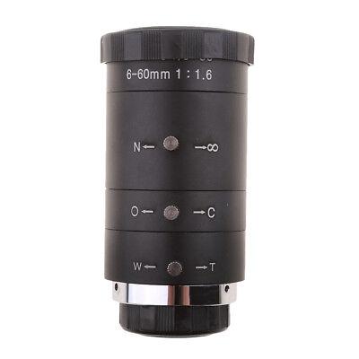 Manual Iris Zoom 6-60mm CS C Mount Lens for CCTV Security Cameras Black Zoom Manual Iris