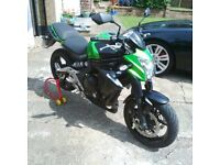 Kawasaki ER-6n in classic green, in immaculate condition