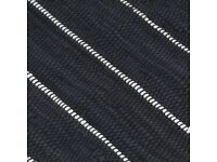 Hand-woven Chindi Rug Cotton 80x160 cm Anthracite-133933