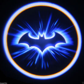 2 x 3D BAT DOOR LED LOGO COURTESY LIGHT LASER GHOST PROJECTOR SHADOW LITE BATMAN