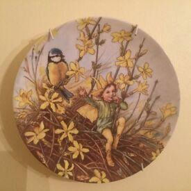 Wedgwood Flower Fairy plate - Winter Jasmine fairy