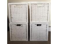 Ikea white rattan 'Branas' storage boxes for Expedit/Kallax units £40