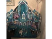 Frozen doll house with furniture