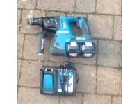Makita 36volt hammer drill with 2 batteries