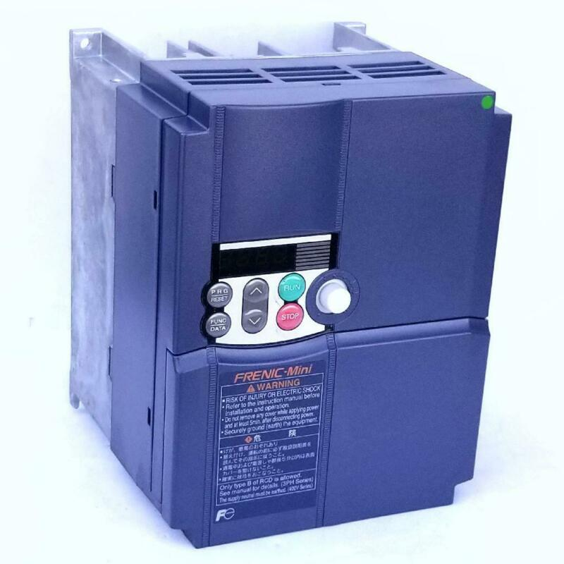 5 HP 3 PHASE 200-240 VOLTS FUJI IP20 VARIABLE FREQUENCY DRIVE FRN3.7C1S-2MO