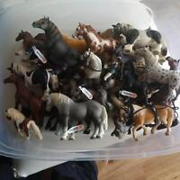 **HUGE LOT OF SCHLEICH HORSES AND ACCESSORIES**
