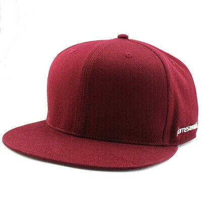 NEW 'PREMIUM' SNAPBACK CAP MAROON PLAIN BASEBALL HIP HOP ERA FITTED FLAT