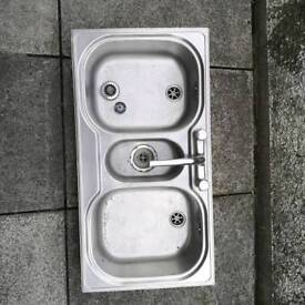 Franke Stainless steel sink and taps