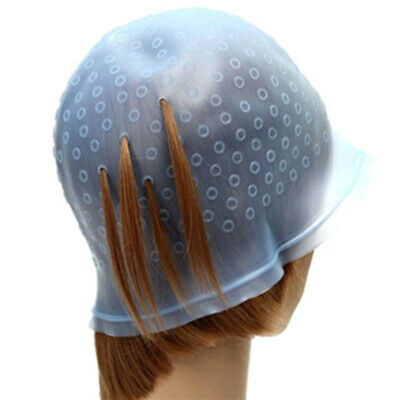 Silikon Strähnenhaube mit Nadel Friseur Haarfärben Silikon Haube Blau