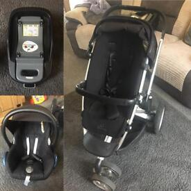 Quinny push chair, isafix & car seat